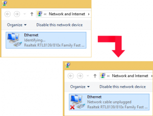 Устранение ошибки Network cable unplugged в Windows