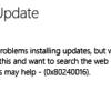 Устранение ошибки 0x80240016 центра обновления Windows Update