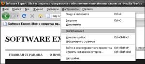 Как защитить Firefox паролем