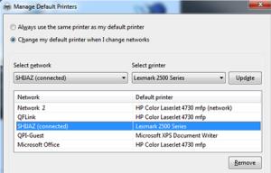 Автоматический выбор принтера Windows 7 в зависимости от месторасположения пользователя