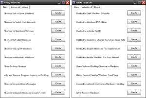 Создание ярлыков быстрого доступа к часто используемым функциям Windows