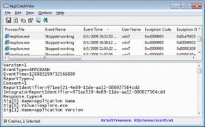 Анализ ошибок в приложениях Windows