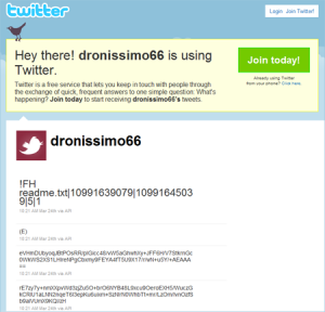 Twitter в качестве сетевого хранилища