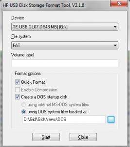 Как сделать загрузочную флешку с DOS