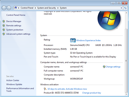 Продление срока действия пробной версии Windows 7 Enterprise