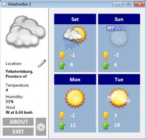 Наблюдение за погодой из панели задач Windows 7