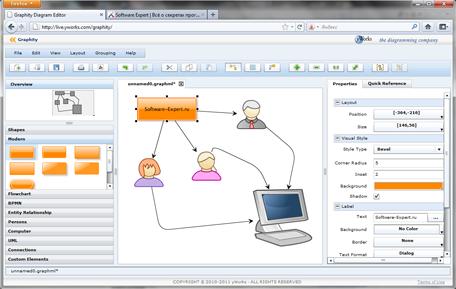 Создание диаграмм и блок-схем при помощи браузера