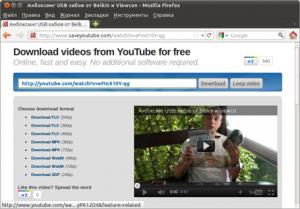 Мгновенное скачивание роликов YouTube