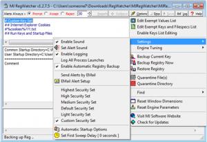 Мониторинг системного реестра Windows
