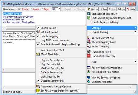 Мониторинг системного реестра Windows - MJ Registry Watcher