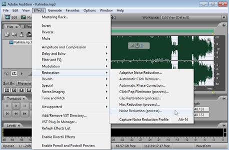 Удаление шумов из звуковых файлов
