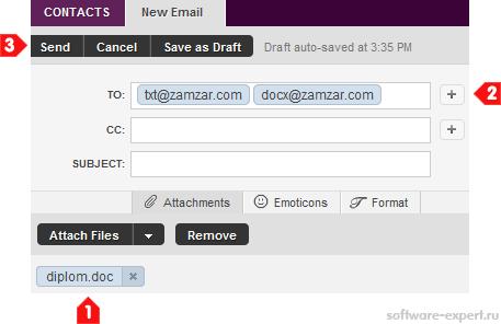 Конвертирование файлов в различные форматы с помощью e-mail