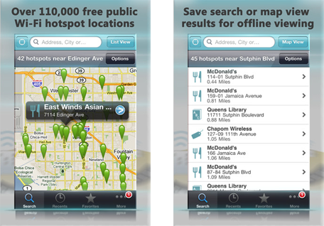 Поиск сетей Wi-Fi с открытым доступом при помощи Apple iPhone