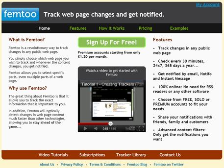 Отслеживание изменений на веб-страницах