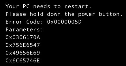 Как обойти ошибку 0x0000005D при установке Windows 8