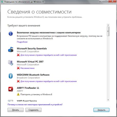 Как проверить компьютер на совместимость с Windows 8