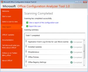 Автоматическое обнаружение проблем в работе приложений Microsoft Office