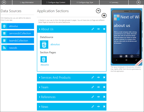 Создание приложений для Windows Phone 8 без знания языков программирования