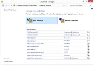 Просмотр сохраненных в Internet Explorer паролей