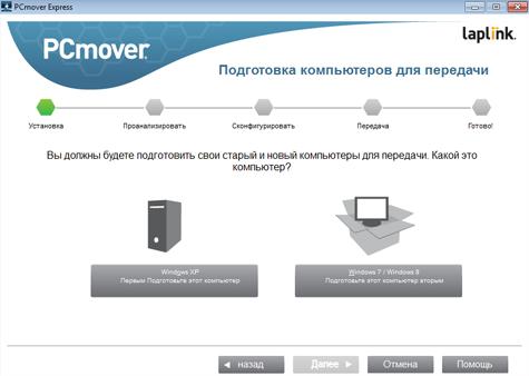 Перенос данных из Windows XP в рабочее окружение современных ОС