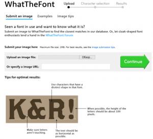 Как определить шрифт по изображению с образцом текста