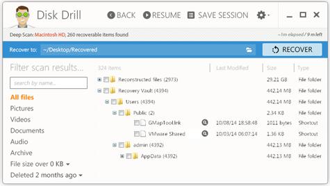 Восстановление удаленных данных с помощью Disk Drill