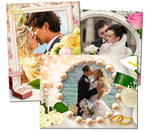 Оформление свадебных фотографий