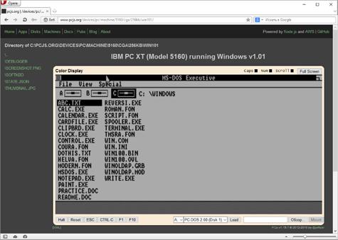 Как запустить Windows 1.01 в браузере