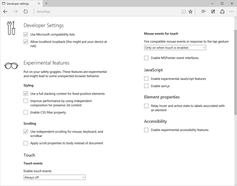 Как получить доступ к скрытым настройкам браузера Microsoft Edge