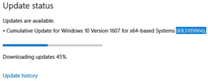 Решение проблем с «зависшими» обновлениями Windows