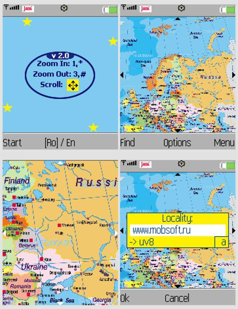 Мобильная карта Европы