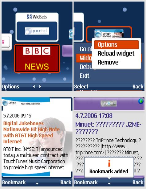WidSets: мобильные Java-виджеты