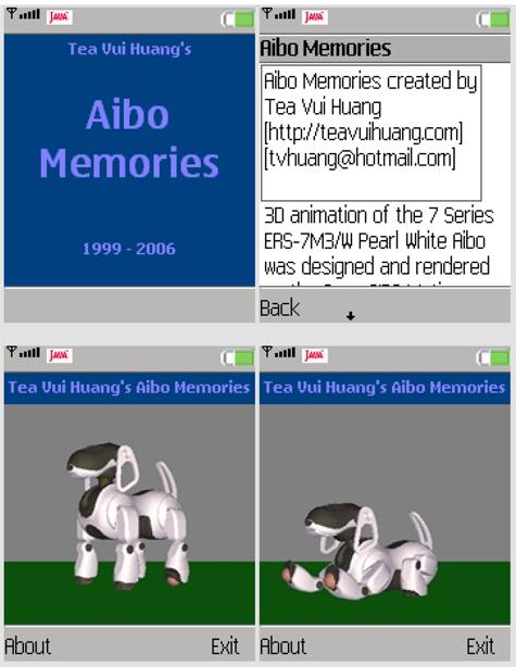 Робособака Aibo для мобильника